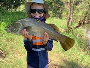 'Gun fisherman': First barra big step for little guy