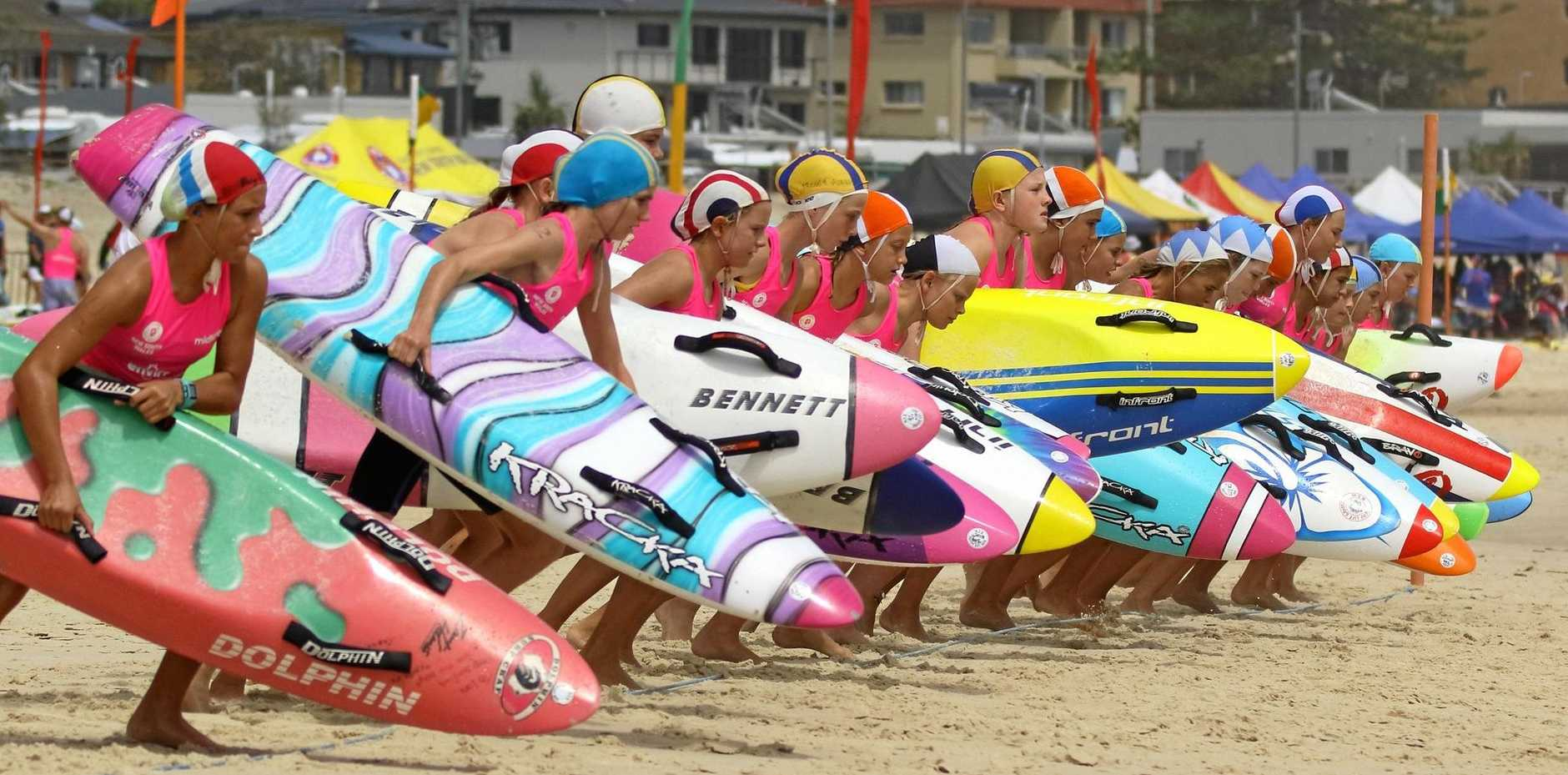 Action from the NSW Country Surf Lifesaving Championships at Kingscliff on the weekend.