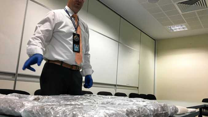 DEAL TURNED SOUR: Rebecca Michelle Cooke (inset) received six parcels - two which had been intercepted by Australian Border Control and the cocaine switched to icing sugar.