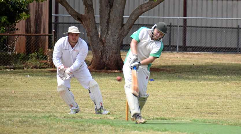 HUGE EFFORT: Ryan Kelly from Kumbia Cricket Club on his way to 200.