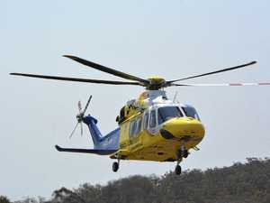Man airlifted after motorbike crash