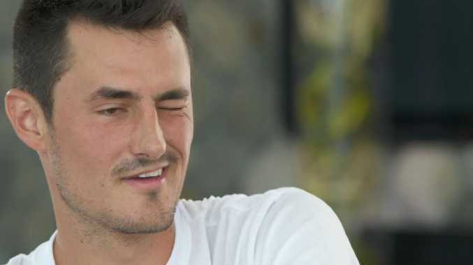 Bernard Tomic struggled to keep both his eyes open.