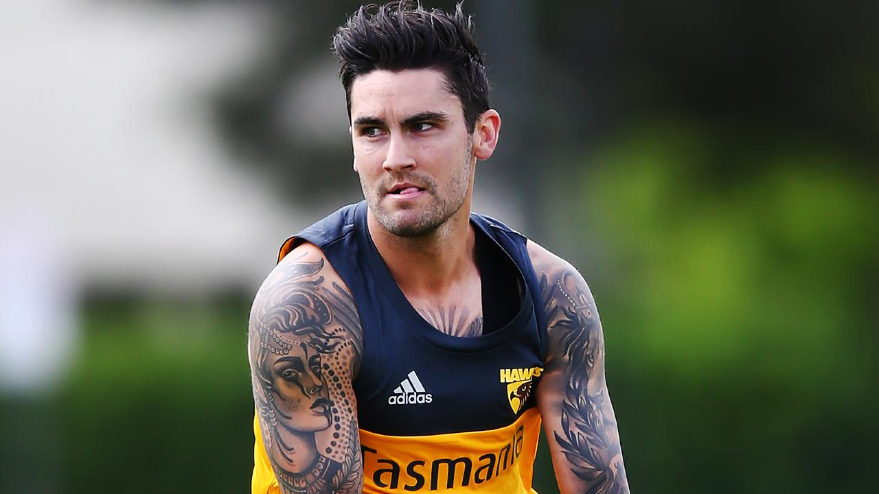 Chad Wingard wearing his new colours.