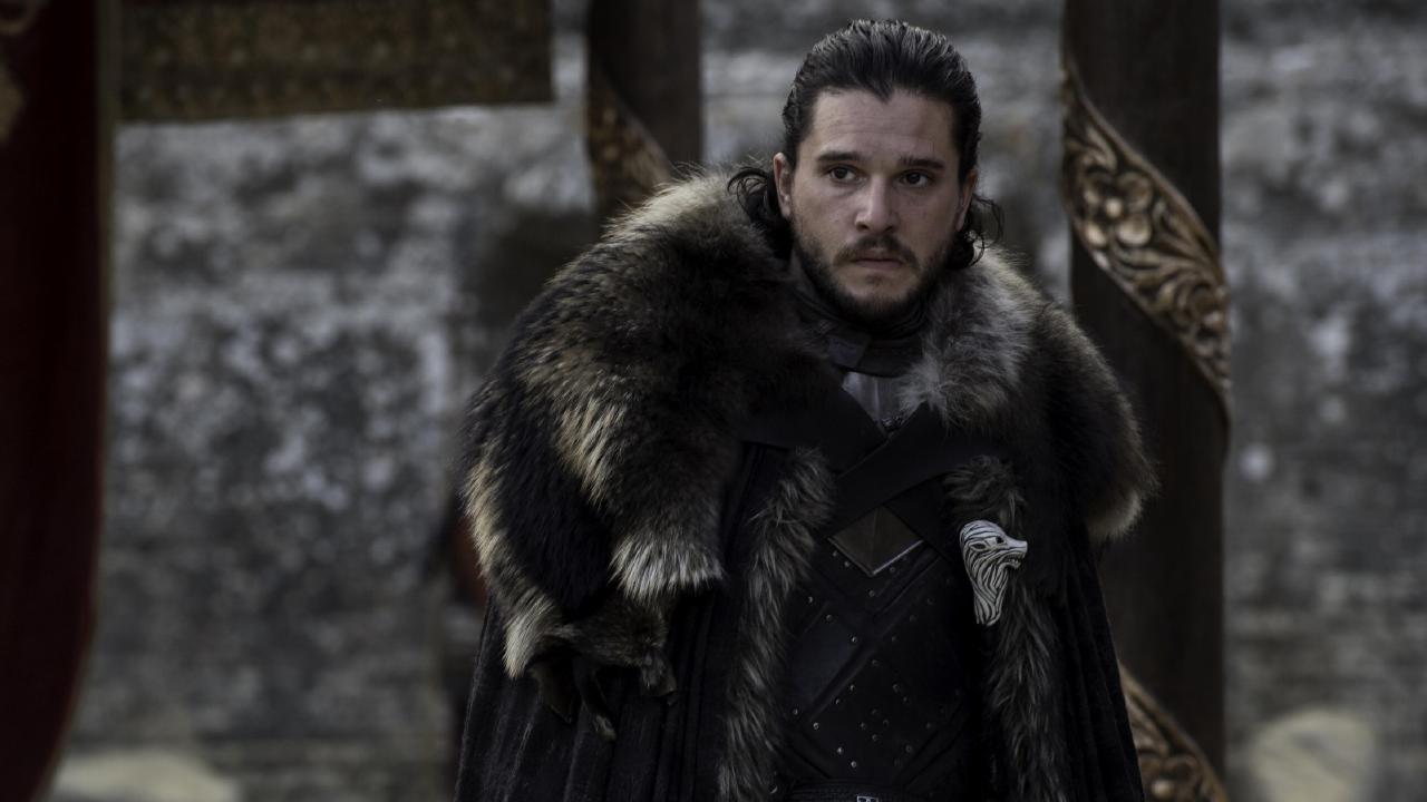 Kit Harington as Jon Snow in season seven Game of Thrones finale