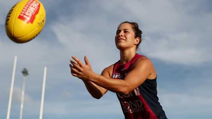 Ally Anderson at Brisbane training.