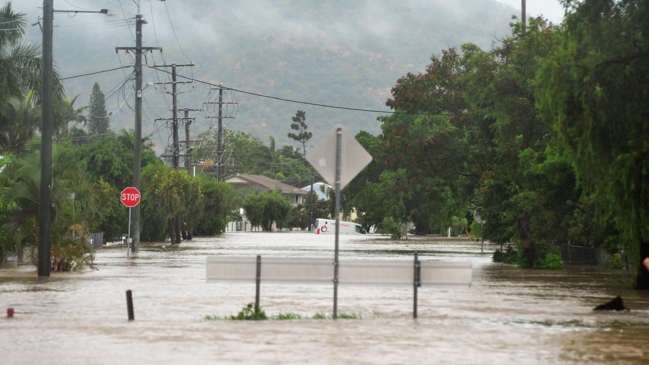 Marks St in the Townsville suburb of Hermit Park. Some residents in the suburb have said the Ross River Dam floodgates should have opened earlier. Picture: Zak Simmonds