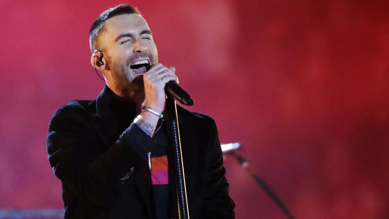 Levine performs. Picture: AP