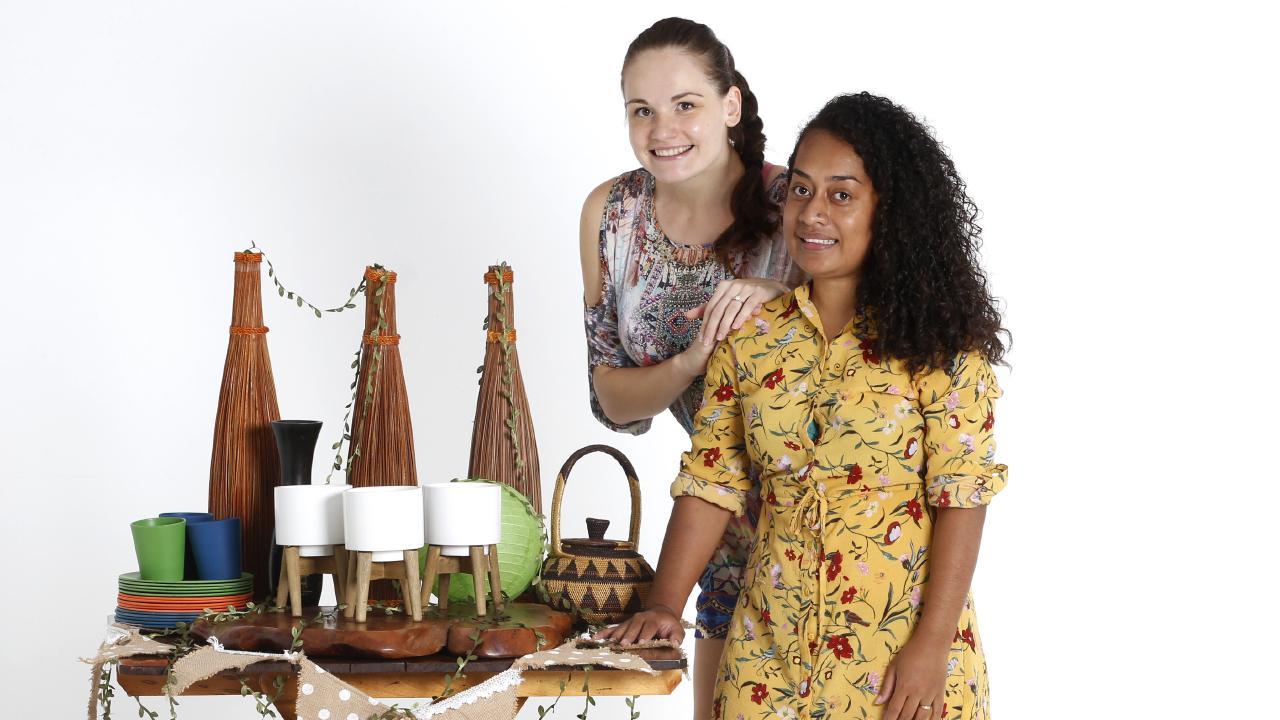 Funki Trunki co-owners Eva Sedlakova, 24 and Lala Harrison, 30. PICTURE: ANNA ROGERS