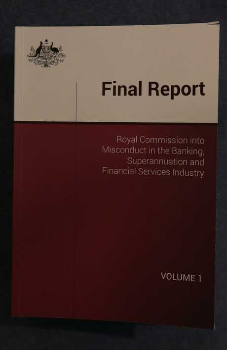 The final report of the Royal Commission into Misconduct in the Banking, Superannuation and Financial Services Industry. Picture Kym smith
