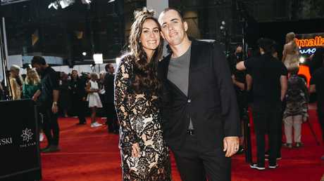 Amy Shark with her husband Shane Billings at the ARIA Awards.