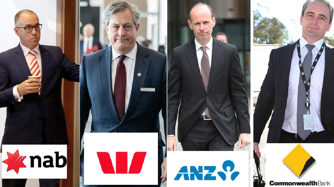 Heads of the big four banks at the centre of the inquiry. Picture: AAP
