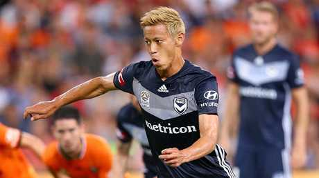 Keisuke Honda hasn't played since December 14. Picture: AAP