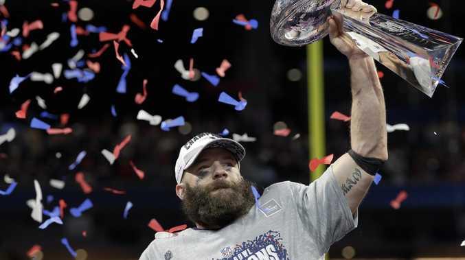 Julian Edelman after the Patriots won the Super Bowl.