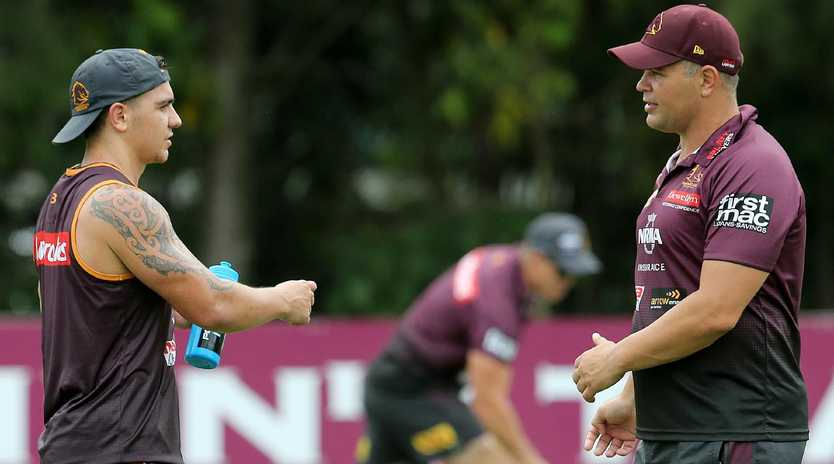 Nikorima is enjoying the different approach under Seibold. (AAP Image/Jono Searle)