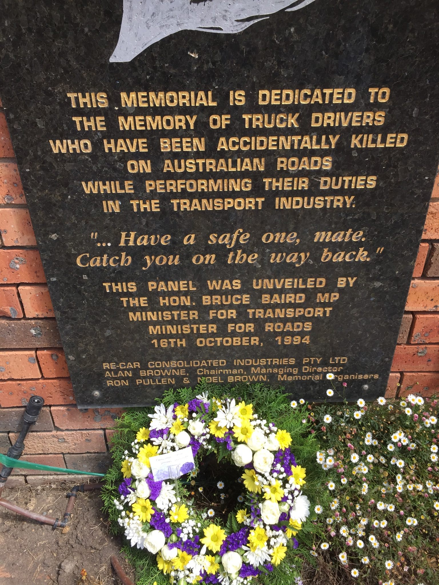 Widow Kaye Whitbread was horrified at the rubbish left at the Tarcutta Truck Drivers Memorial.