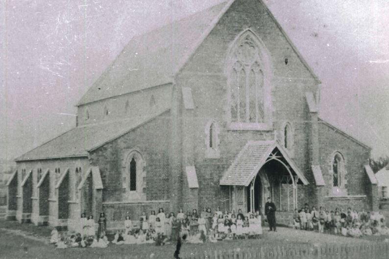 Maryborough's St Mary's Catholic Church in 1874.