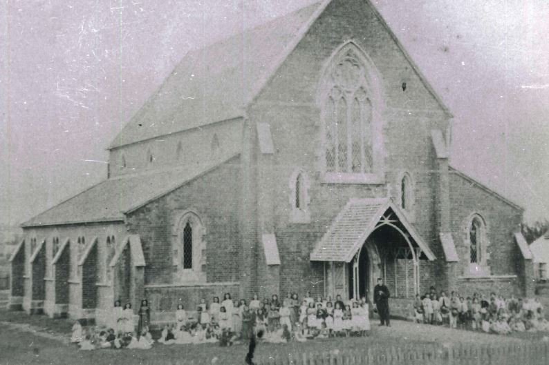 Maryborough's St Mary's Catholic Church in 1874.