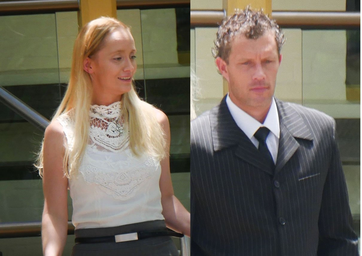 Chiquita Monique Gibson and Brenton Gary Stevens leave Maryborough District Court. They were both granted immediate parole.