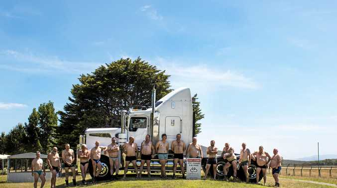 GEAR CHANGE: To raise funds and awareness for mental health, the Heywood Truck Show organisers created a calendar, featuring this image.