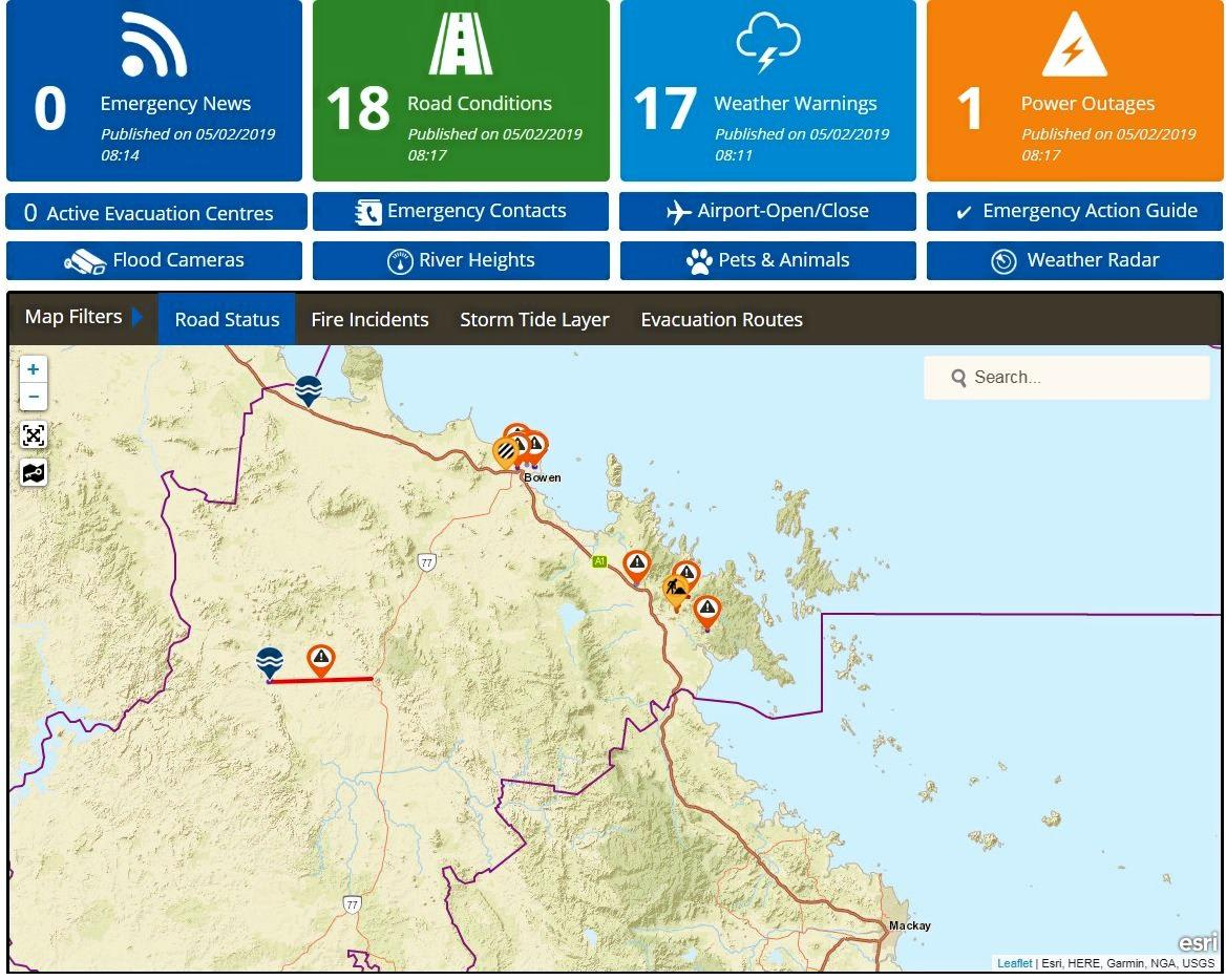 Whitsunday Regional Council Disaster Dashboard