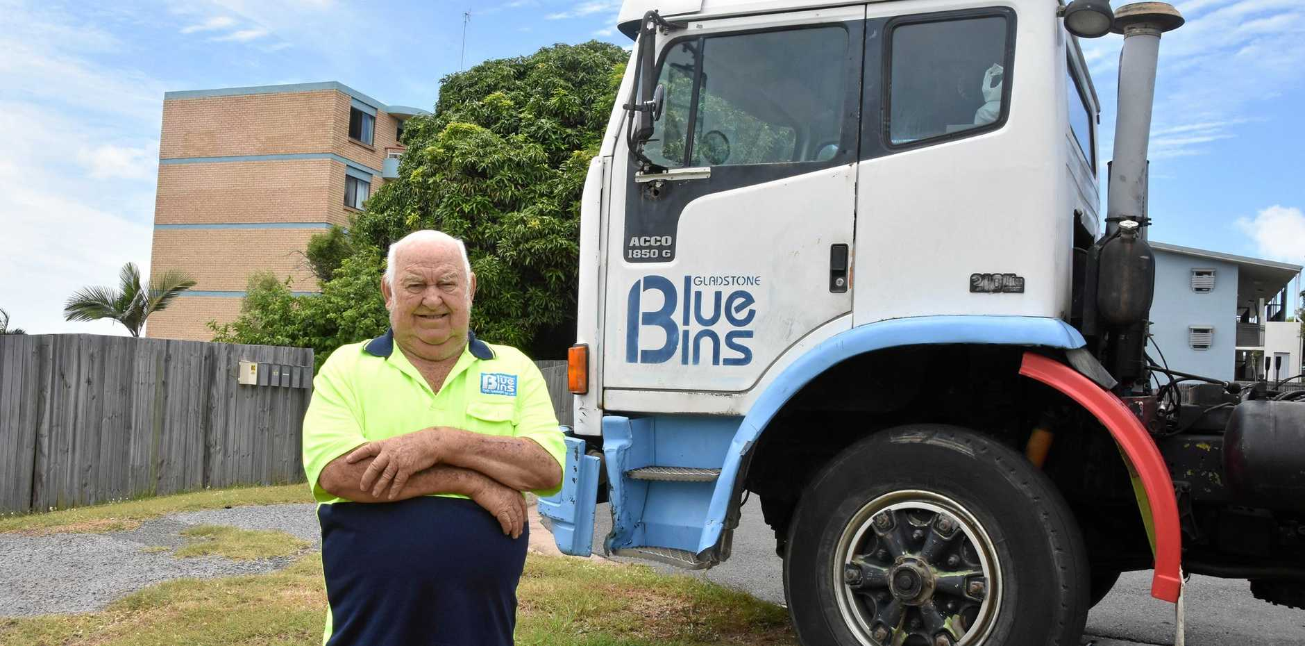 JUST MY LUCK: Tony Soppa's business, Gladstone Blue Bins, was impacted by the collapse of building company JM Kelly.