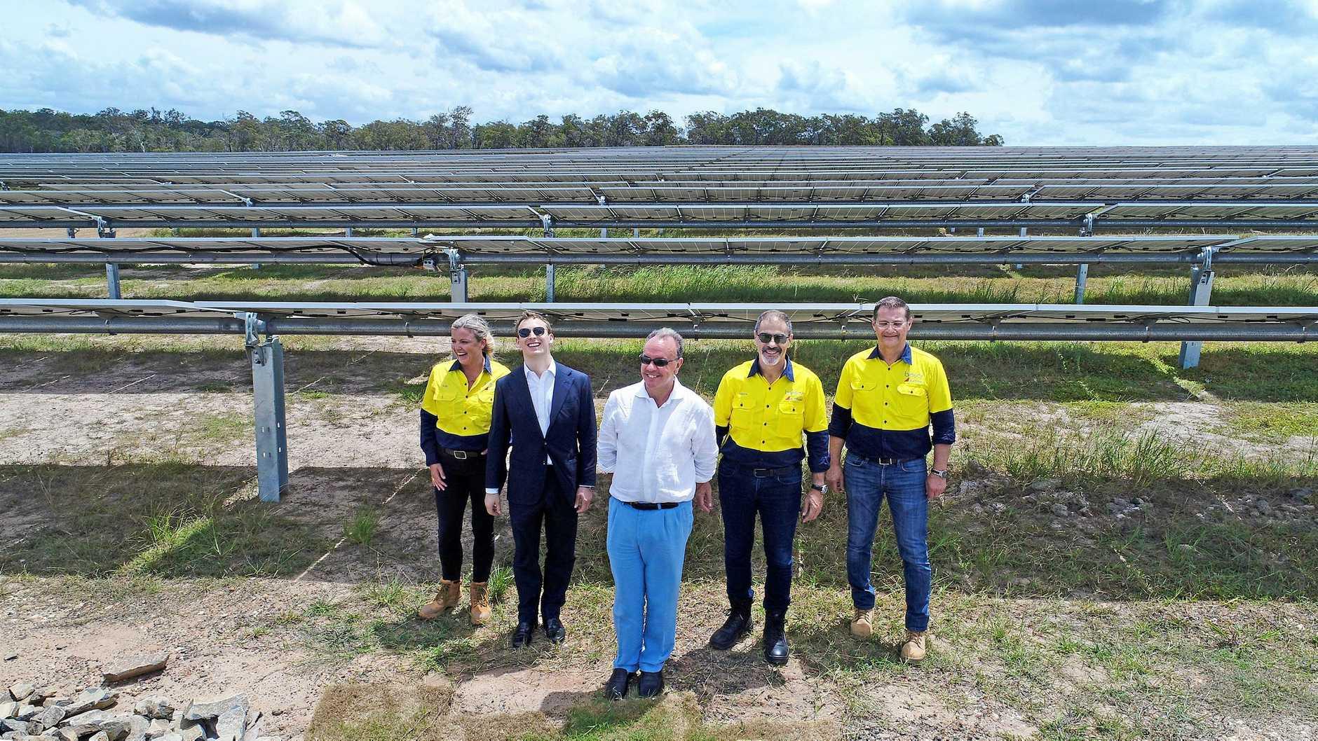 Solar Farm opening - Manos Chaviaros, Umberto Tamburrino, Francesco Ciardi, Sally Stahmer and Christos Papadopolos.