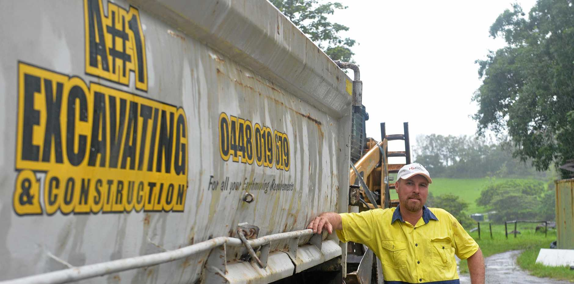 OUT OF POCKET: Adam Hull of A#1 Excavating and Construction says his business is everything.