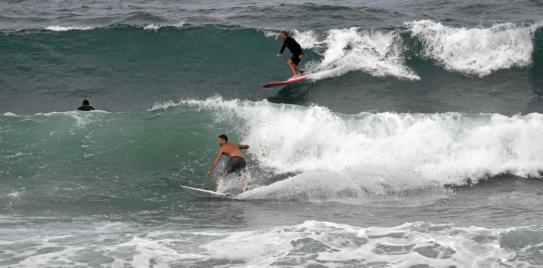 There were plenty of waves to go around at Alexandra Headland today.
