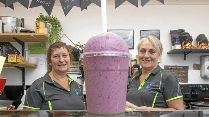 VERY SMOOTH: Michele Giffin and Naomi Davis the co-owners of Blueberries Smoothies and Health Bar.