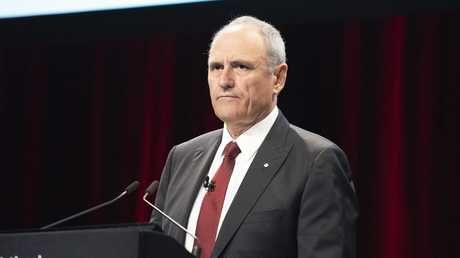 NAB chairman Ken Henry addresses NAB's 2018 annual general meeting in Melbourne on Wednesday, December 19, 2018. Picture: Ellen Smith/AAP