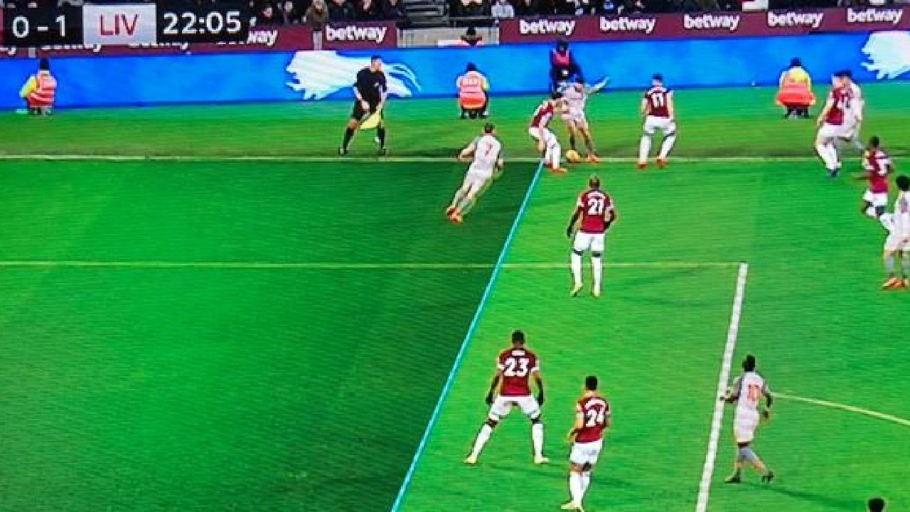 Replays showed James Milner in an offside position.