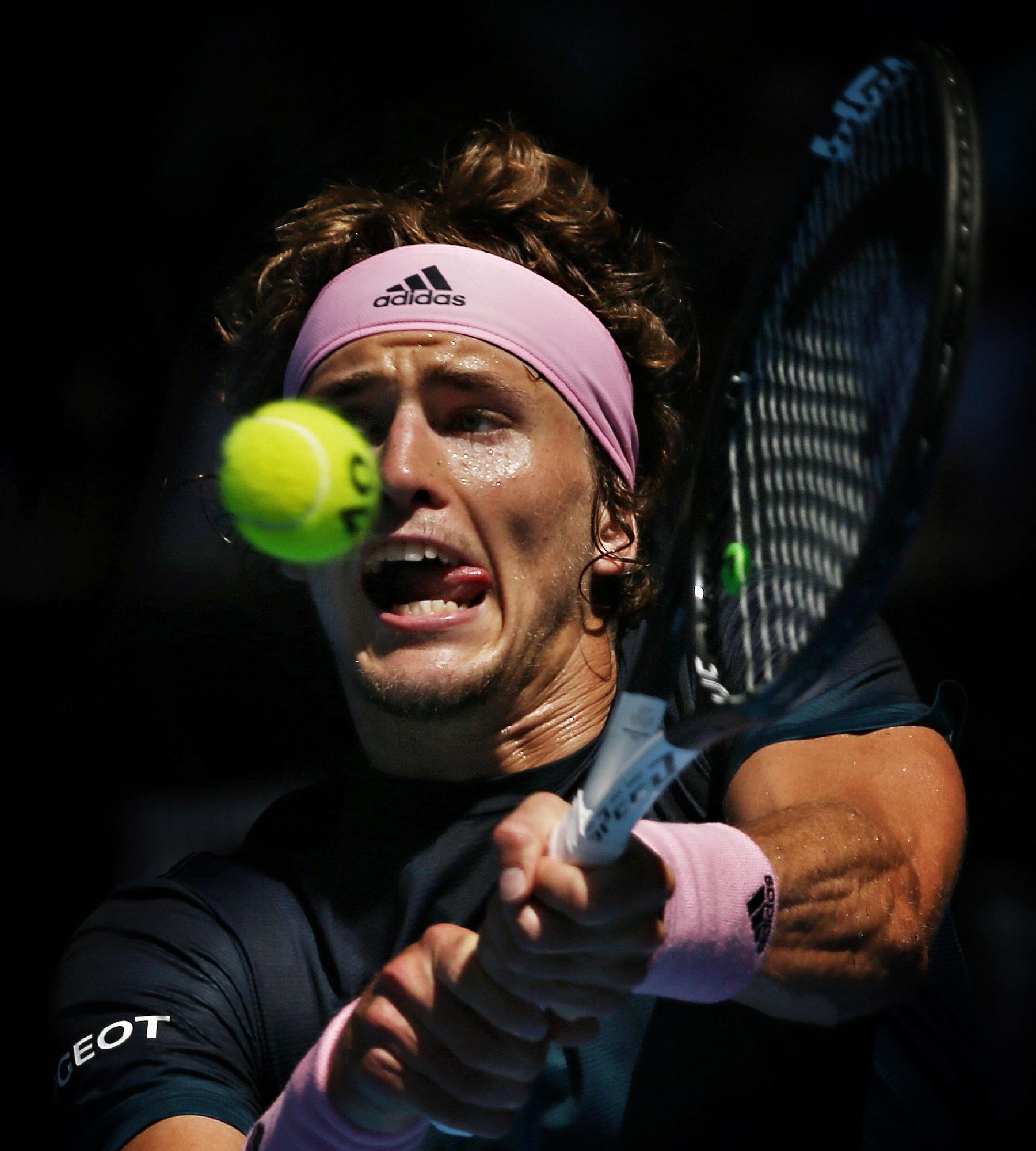 Alexander Zverev delivers a backhand. Picture: Michael Klein
