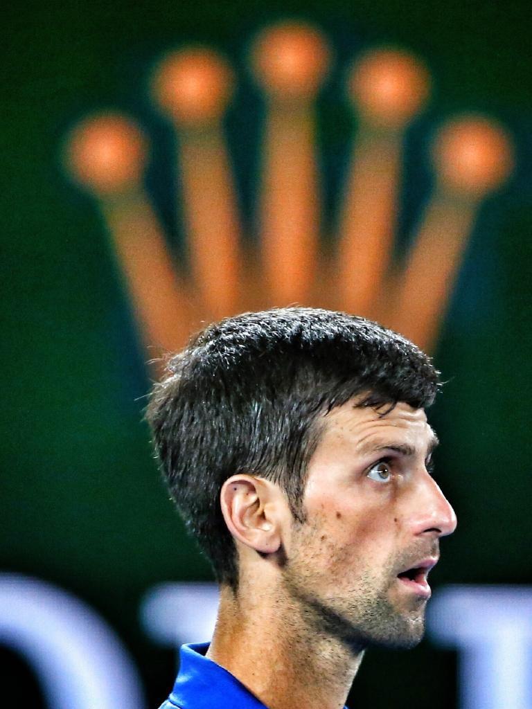 Novak Djokovic, king of the court. Picture: Michael Klein