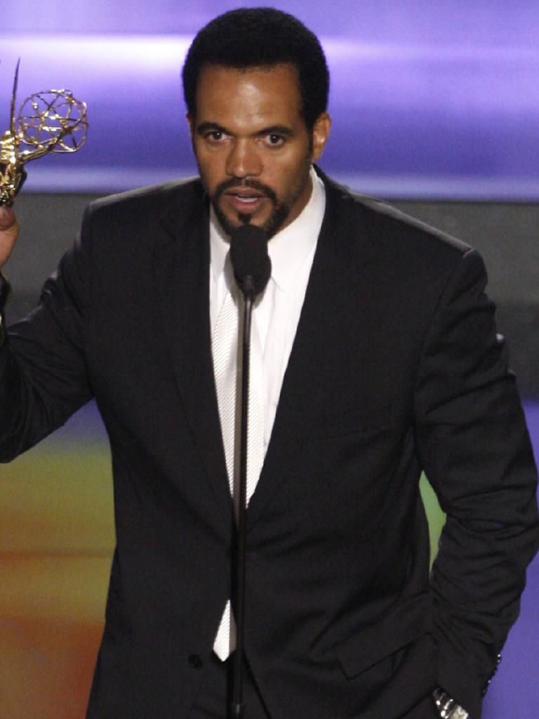 Accepting a Daytime Emmy in 2008. Picture: AP