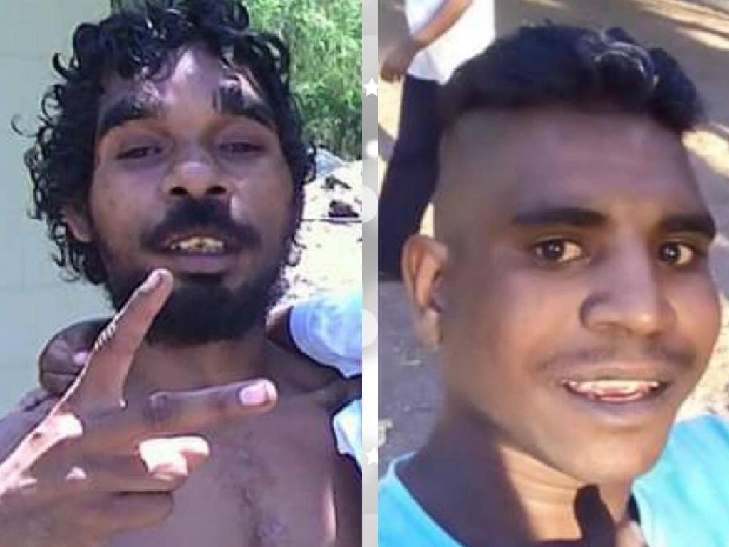 Troy Mathieson, 25, and Hughie Morton, 20, missing in Townsville's floodwaters, last seen at Dan Murphy's Aitkenvale between 8pm and 9pm on Sunday February 3. Picture: Supplied