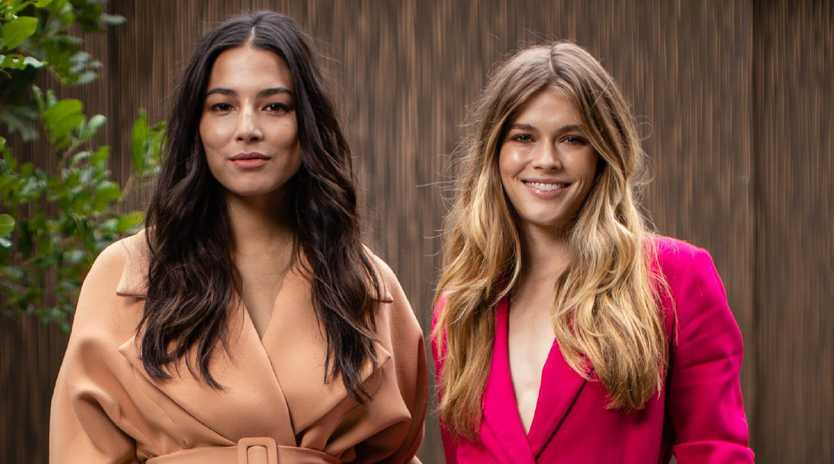 David Jones ambassadors Jessica Gomes, left, and Victoria Lee are in Hobart for the launch of the retailers autumn/winter range. Picture: Getty
