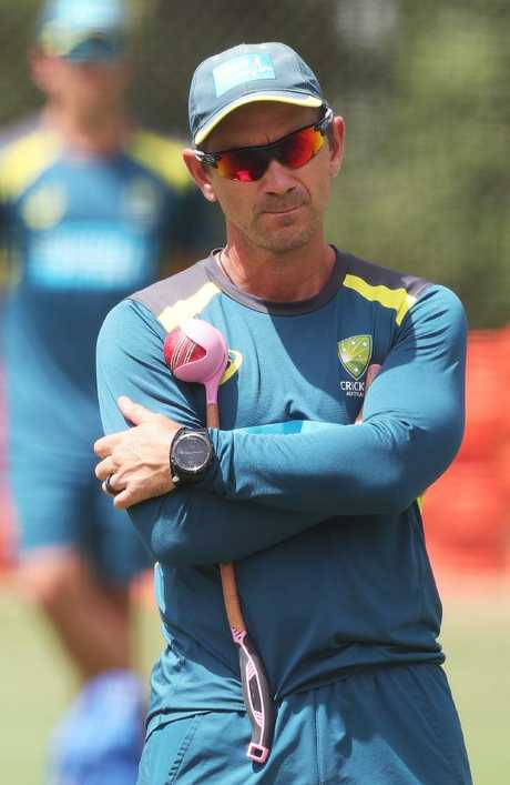 Justin Langer says the World Cup has become Australia's immediate priority. Picture: Phil Hillyard