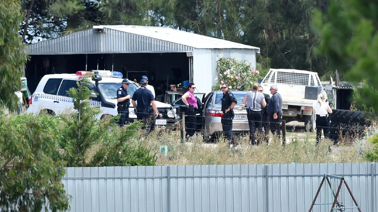 A man was taken into custody on a property in Meningie in relation to the Belgian backpacker. Photo Naomi Jellicoe