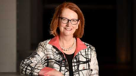 Julia Gillard has returned to her high school in Adelaide to help teachers work to keep students mentally healthy. Picture: News Corp