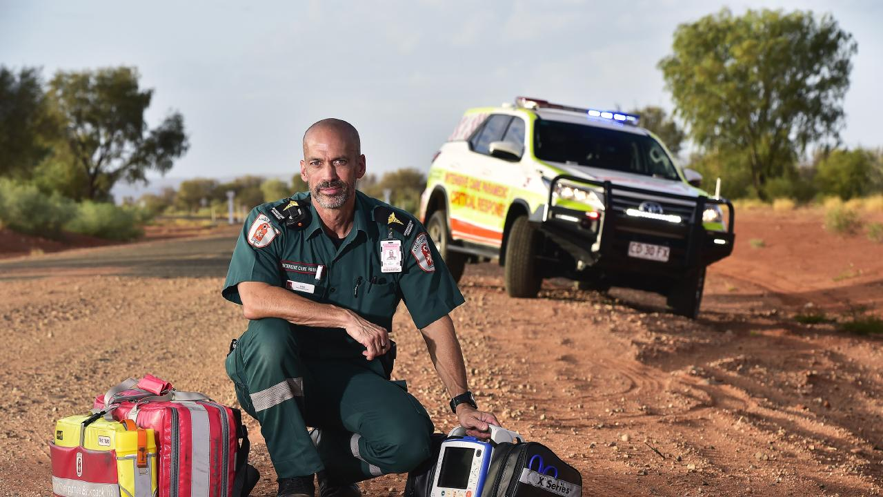 Paramedic Paul Reeves has a strict exercise regimen to help prepare him for the challenges his job presents each day. Picture: Chloe Erlich
