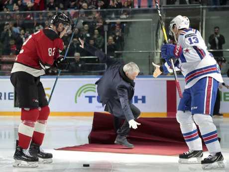 Oops. (AP Photo/Dmitry Golubovich)