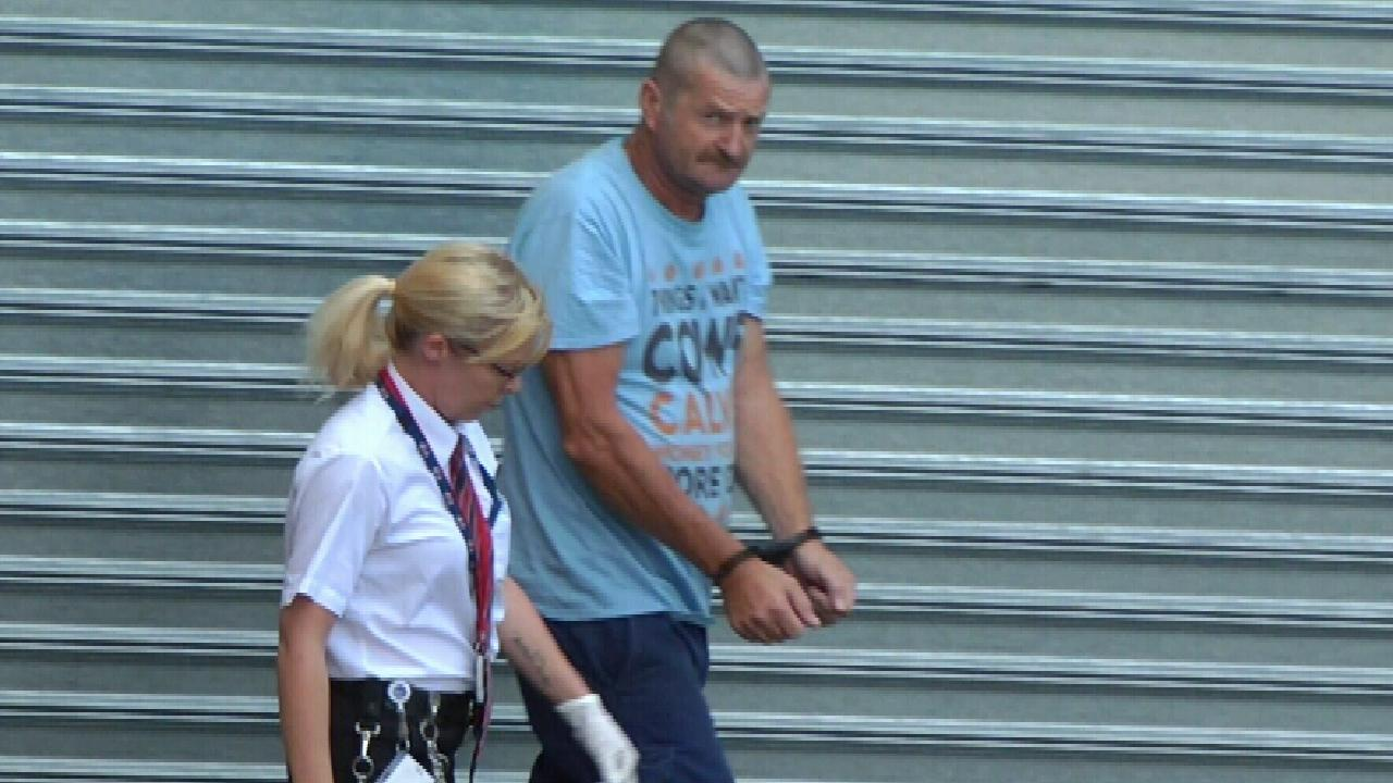 Gene Bristow leaves the Adelaide Magistrates Court during an earlier hearing. Picture: Nine News