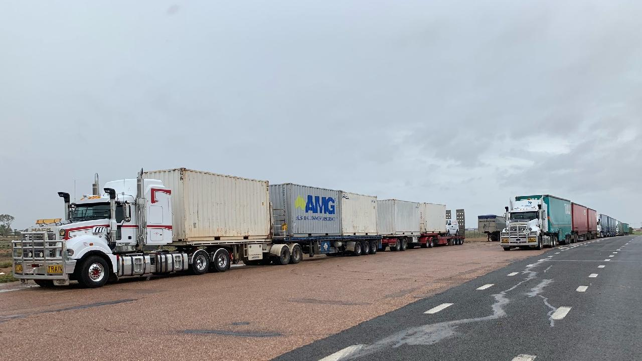 A truck full of frothies has been delayed in Queensland due to the floods, where they will likely be stuck for a week or more. Credit: ABC Darwin