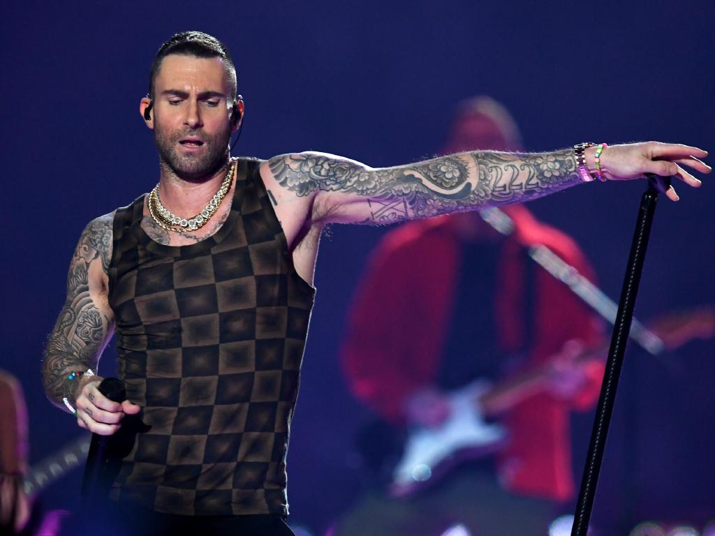 Adam Levine's choice of outfit drew some hilarious comparisons. Picture: Getty