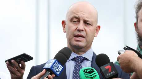 NRL CEO Todd Greenberg pictured at the official opening of the brand new NSWRL Centre of Excellence at Homebush in Sydney. Picture: Richard Dobson