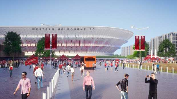 An artist's impression of how the new Western Melbourne Stadium will look.
