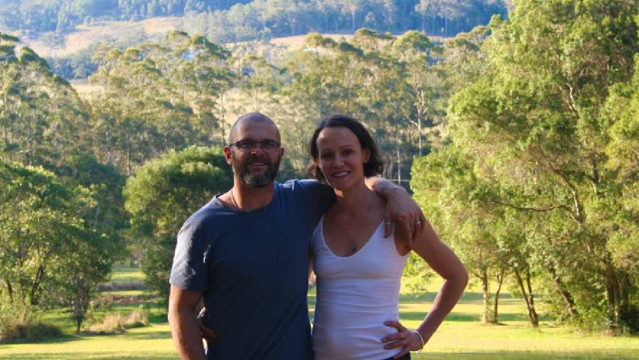 Brad and Tara Wallis at the Byabarra property near Port Macquarie. Photo: Supplied