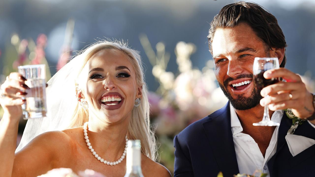 Married at First Sight contestant Sam was captured on camera critiquing the physique of his bride Elizabeth. Picture: Nigel Wright