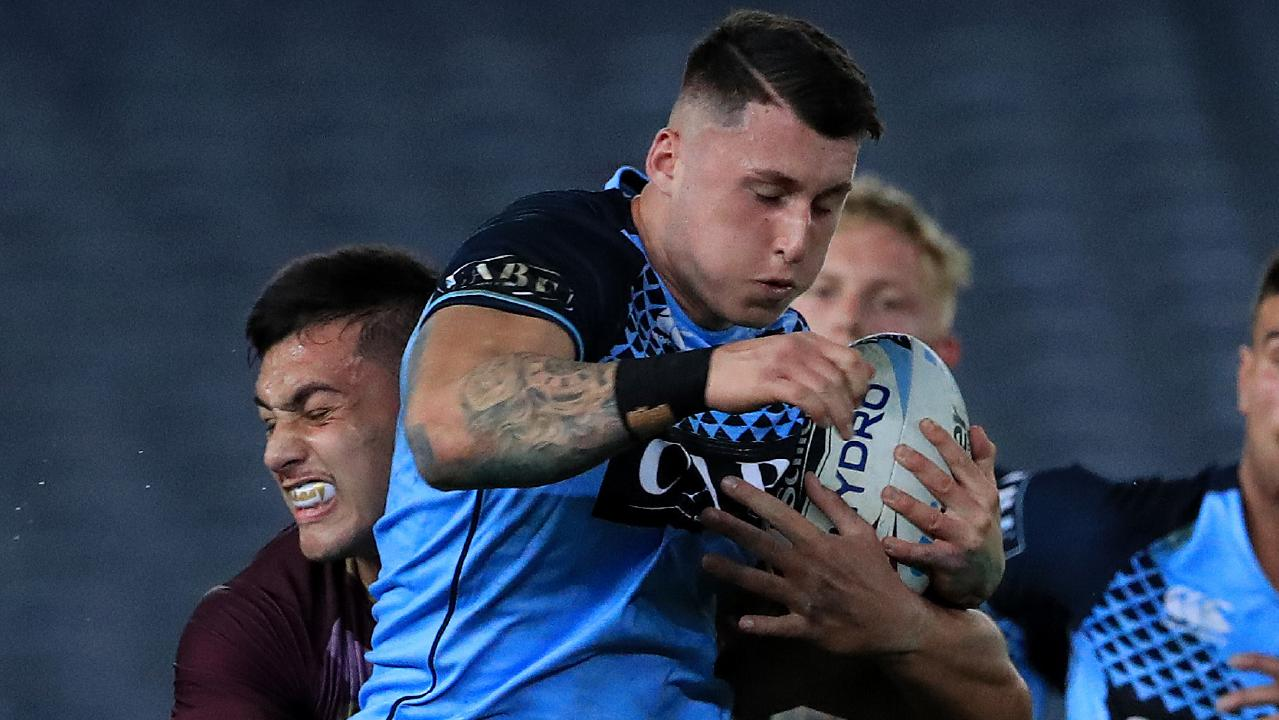 Bronson Xerri in action during the Under 18's Origin game between Queensland and NSW at the MCG in Melbourne. Pics Adam Head