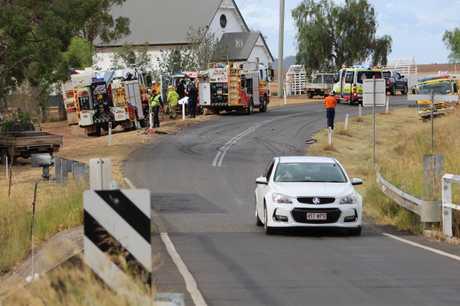 Emergency services on scene at Freestone crash.